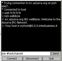 MicroTelnet 1.0 screenshot