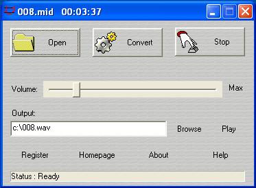 Midi to WAV Maker 2.4.1.3 screenshot