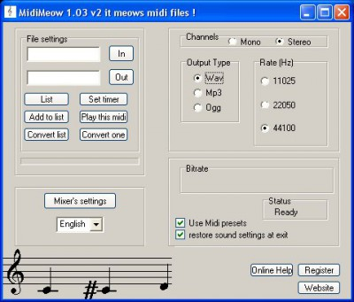 MidiMeow 1.04 v1 screenshot