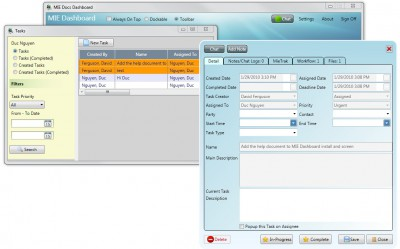 MIE Tasks Project Management Software 1 screenshot