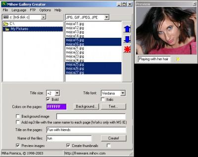 Mihov Gallery Creator 0.9.2 screenshot