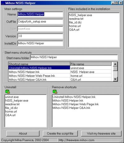 Mihov NSIS Helper 3.3 screenshot