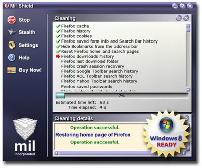 Mil Shield 8.1 screenshot