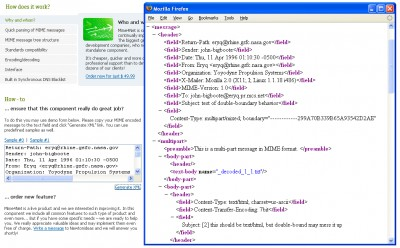 Mime4Net: Email and Mime parser for .Net 1.8 screenshot