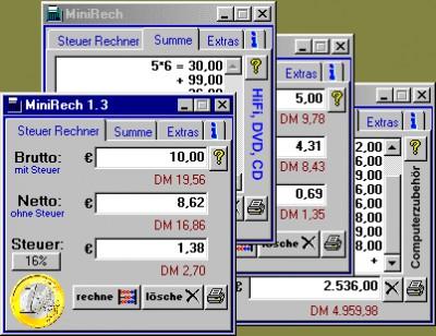 MiniRech 1.3 screenshot