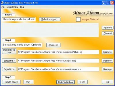 Minos Album Free Version 2.5.8 screenshot