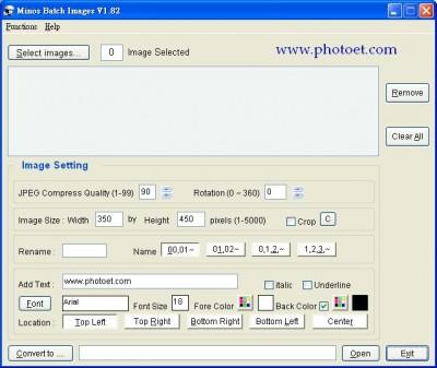 Minos Batch Images 1.8.2 screenshot