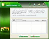 Miranda Password Recovery 5.20 screenshot