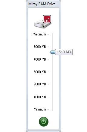 Miray RAM Drive 1.1 screenshot