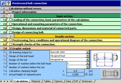 MITCalc - Bolted connection 1.22 screenshot