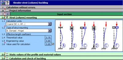MITCalc - Buckling Calculation 1.18 screenshot