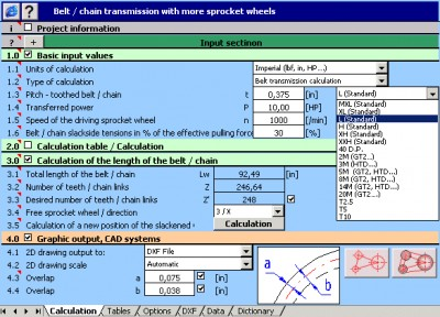 MITCalc - Multi pulley calculation 1.19 screenshot