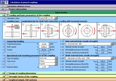 MITCalc - Pinned couplings 1.17 screenshot