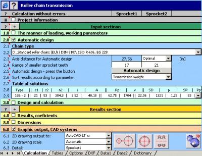 MITCalc - Roller Chains Calculation 1.19 screenshot