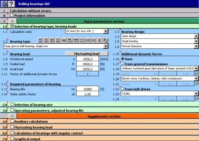 MITCalc - Rolling Bearings Calculation I 1.18 screenshot
