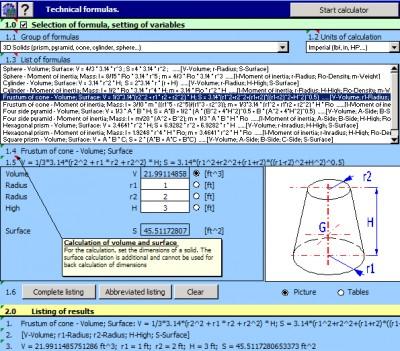 MITCalc - Technical Formulas 1.19 screenshot