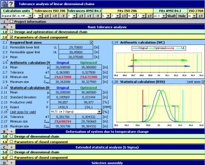 MITCalc - Tolerance analysis 1.17 screenshot