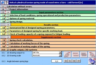 MITCalc - Torsion Springs 1.20 screenshot
