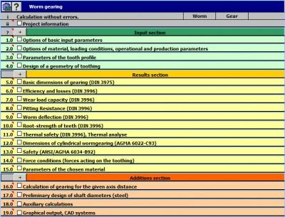 MITCalc - Worm Gear Calculation 1.16 screenshot