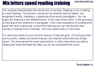 Mix letters speed reading training 2.3 screenshot