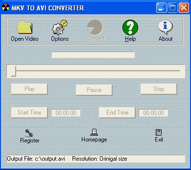 MKV to AVI Converter 3.2.1.1 screenshot