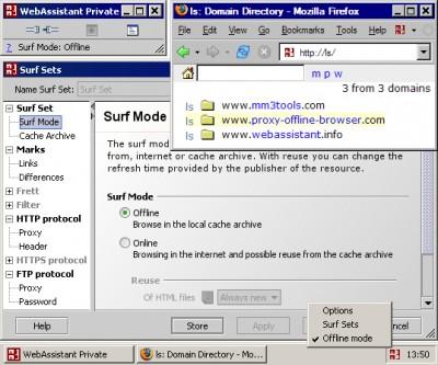 MM3-WebAssistant - Proxy Offline Browser 2006 screenshot