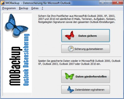 MOBackup - Outlook Backup Software 9.10 screenshot