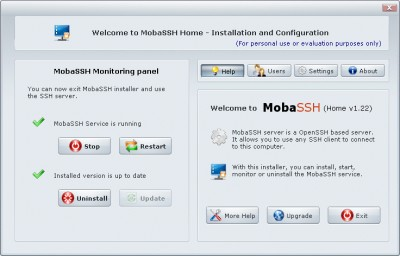MobaSSH 1.60 screenshot