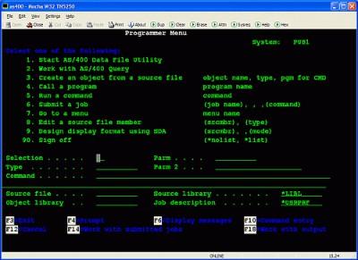 Mocha W32 TN5250 9.4 screenshot