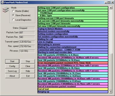 ModemTest 1.3.1012 screenshot