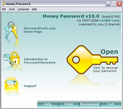 Money Password 10.1.6805 screenshot
