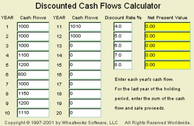 MoneyToys - Discounted Cash Flows applet 1.3 screenshot