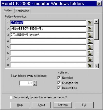 Monidir 2000 1.0 screenshot