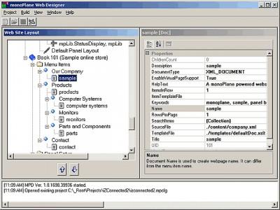 monoPlane Web Designer 0.02 screenshot
