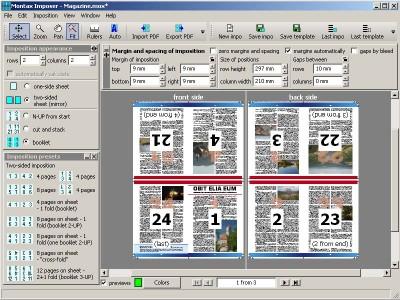 Montax imposer Professional 1.8.2 screenshot