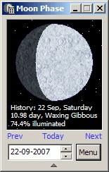 Moon Phase Calculator 3.51 screenshot