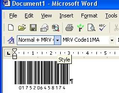 Morovia Code 11 Barcode Fontware 1.0 screenshot
