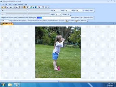 Morpheus Photo Compressor 3.01 screenshot