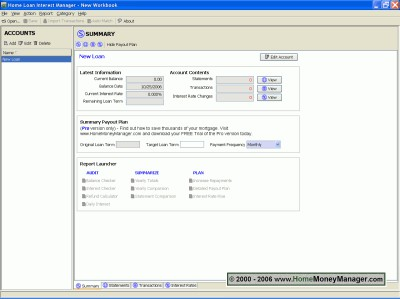 Mortgage Home Loan Interest Manager Mac 4.1.070910 screenshot