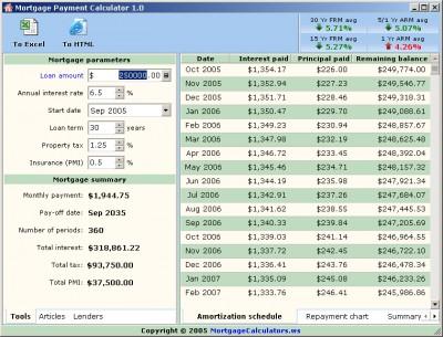 Mortgage Payment Calculator 1.0 screenshot