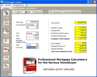 MortgageTools Professional 3.3.0 screenshot