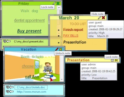 MoRUN.net Sticker (desktop notes) 7.6 screenshot