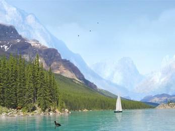 Mountain Lake - 3D Screen Saver 5.07 screenshot