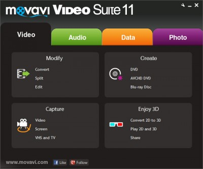 Movavi Video Suite 18.1 screenshot