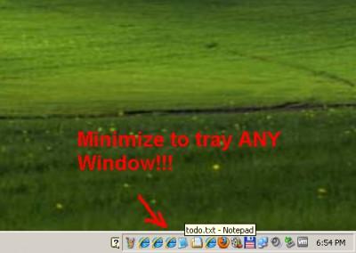 Move to Tray Any Window Software 1.0 screenshot