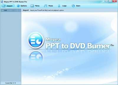 Moyea PPT to DVD Burner Pro 4.7.0.6 screenshot