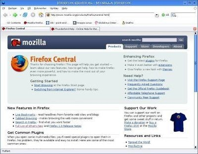 Mozilla Firefox 1.5.0.9 screenshot