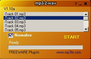 Mp3-2-Wav converter 1.16 screenshot