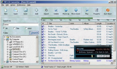MP3 CD Converter Professional 5.03 screenshot