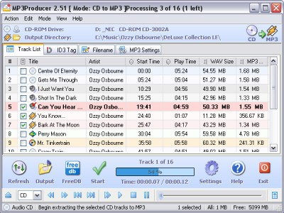 MP3Producer DE 2.60 screenshot